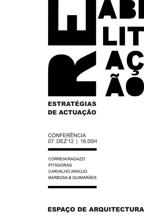 Conferência | Reabilitação . Estratégias de Actuação