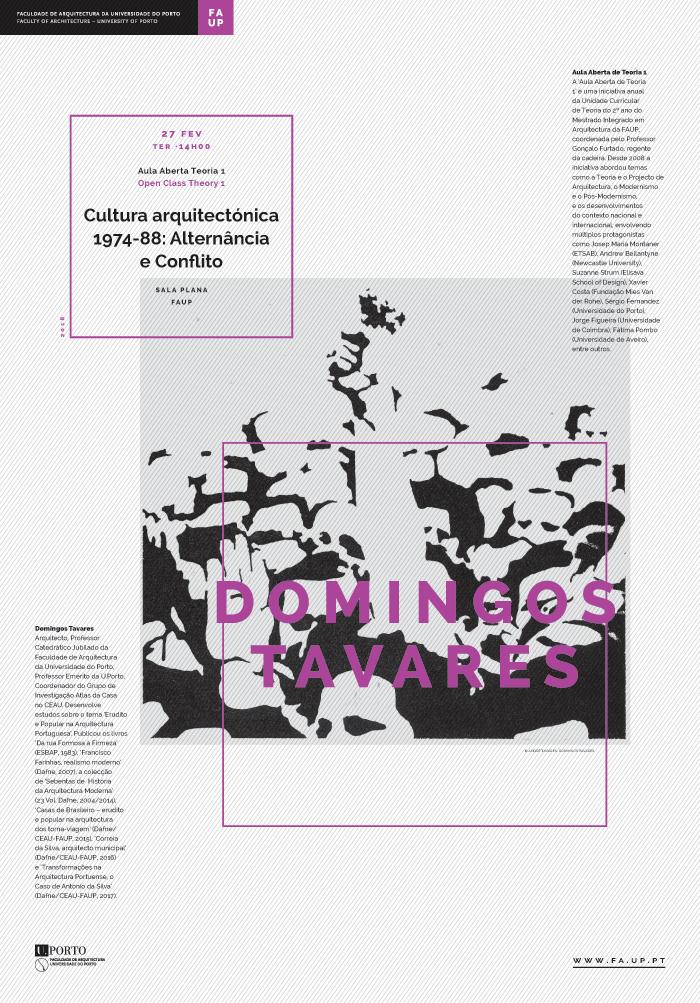 'Cultura arquitectónica 1974-88: Alternância e Conflito' por Domingos Tavares