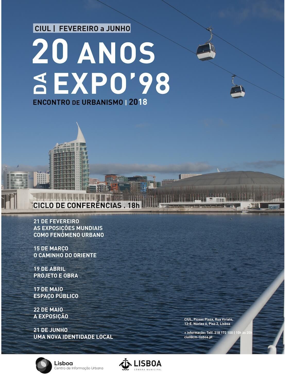 """Ciclo de Conferências Encontro de Urbanismo """"EXPO 98 – 20 Anos"""""""
