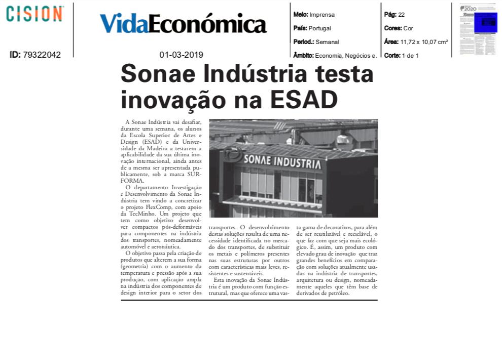 Sonae Indústria testa inovação na ESAD