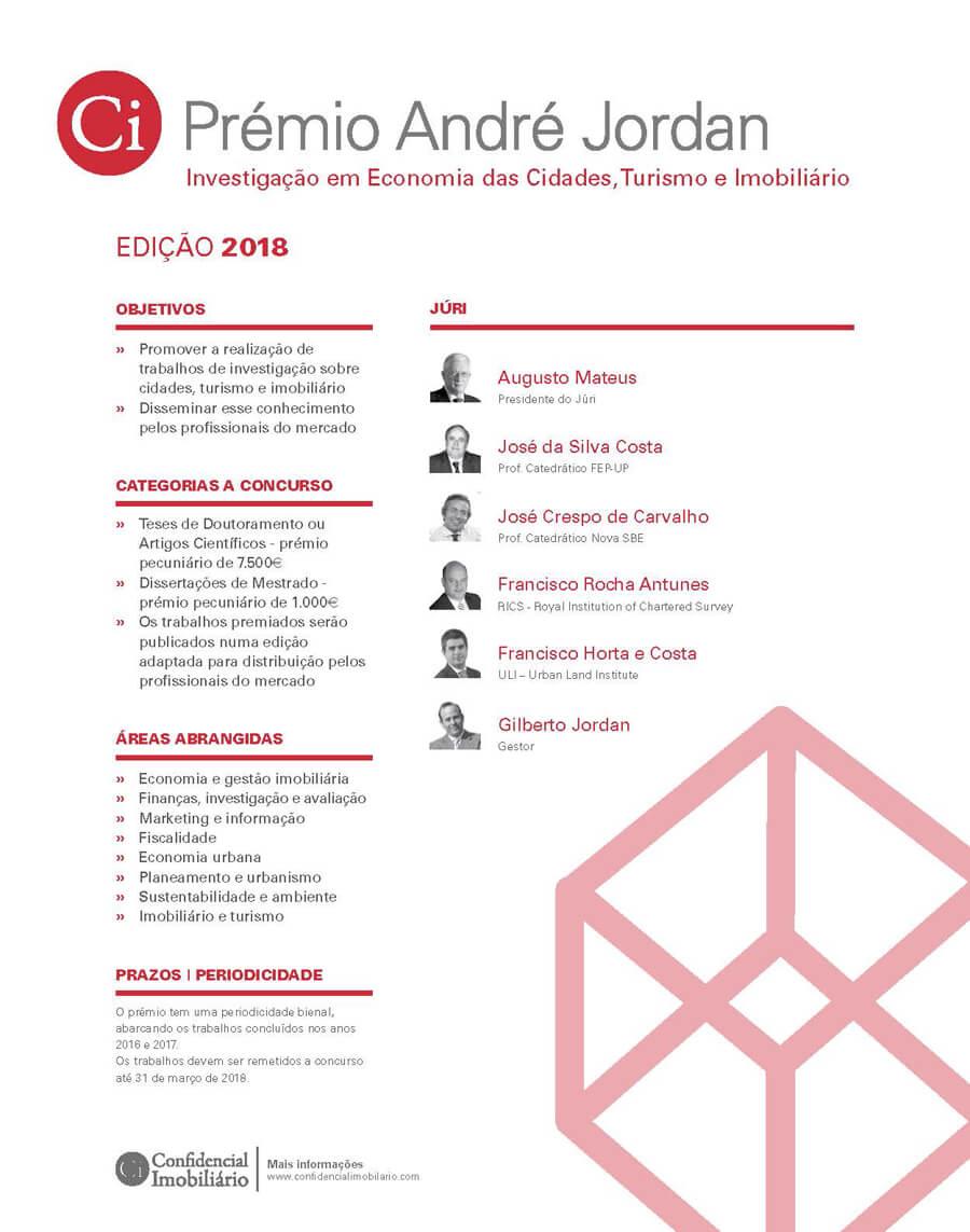 5ª edição . Prémio André Jordan 2018