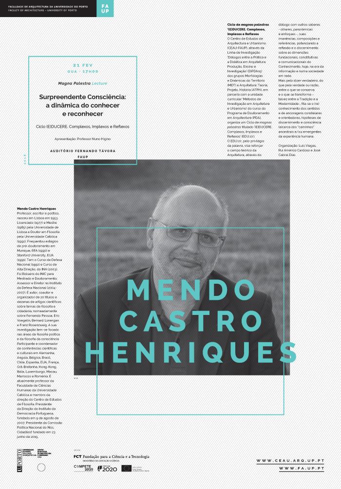 'Surpreendente Consciência: a dinâmica do conhecer e reconhecer' por Mendo Castro Henriques