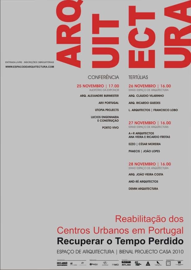 Reabilitação dos Centros Urbanos em Portugal . Recuperar o Tempo Perdido