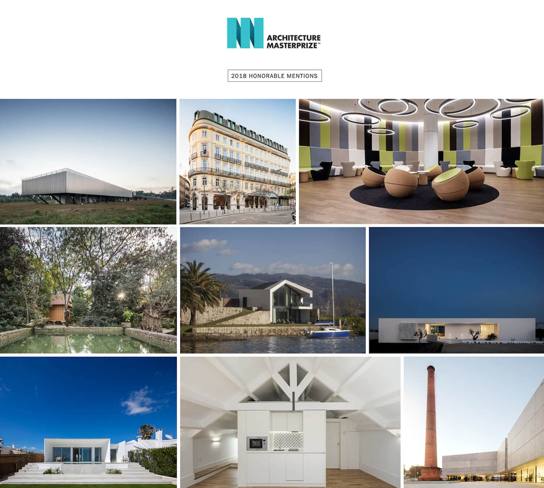 Projetos portugueses de arquitetura distinguidos nos Architecture MasterPrize 2018