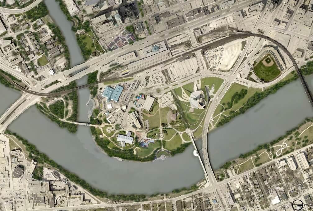 Espaço público em Winnipeg, Canadá
