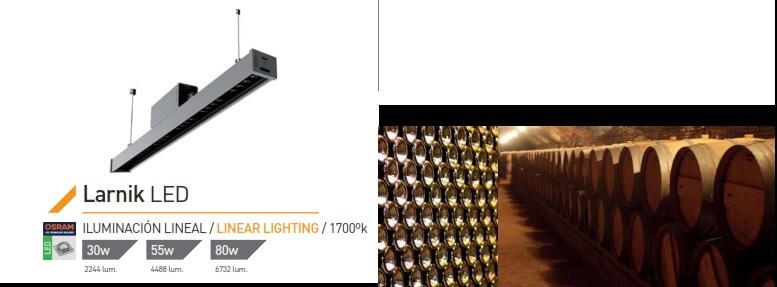 Iluminação para adegas e garrafeiras