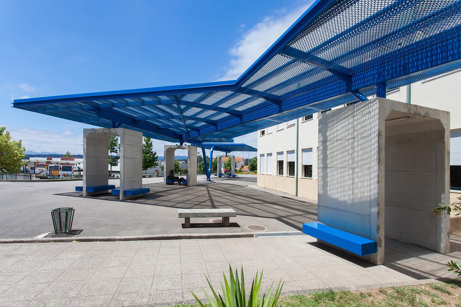 Préau – Cobertura na Escola EB23 de Monção