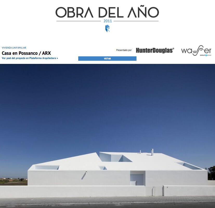 Casa no Possanco dos ARX nos finalistas do prémio obra do ano da Plataforma de Arquitectura