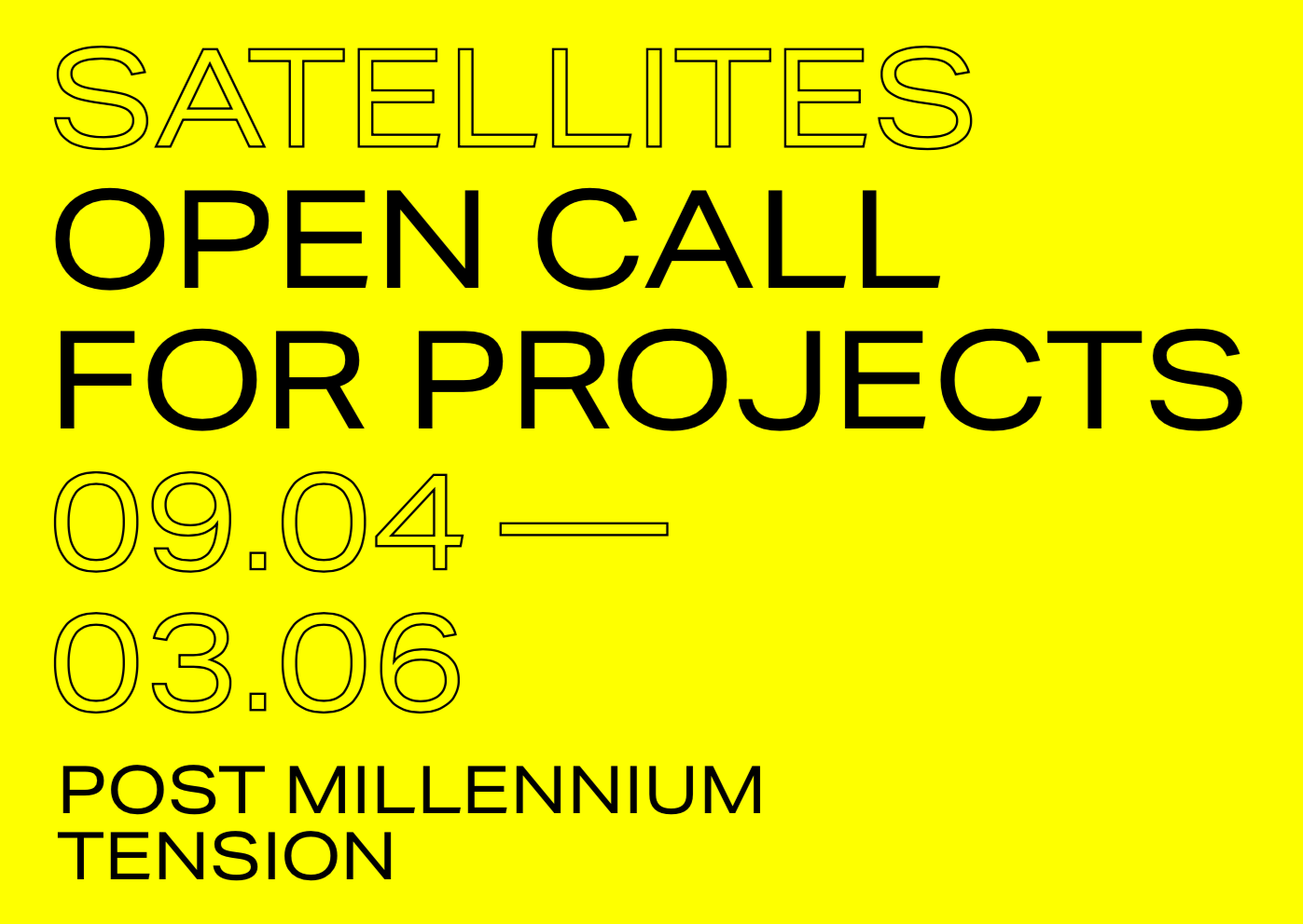 Satellites: Open Call for Projects  PDB'19