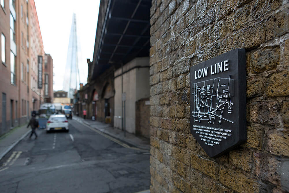 Intervenção estratégica na Low Line . Londres