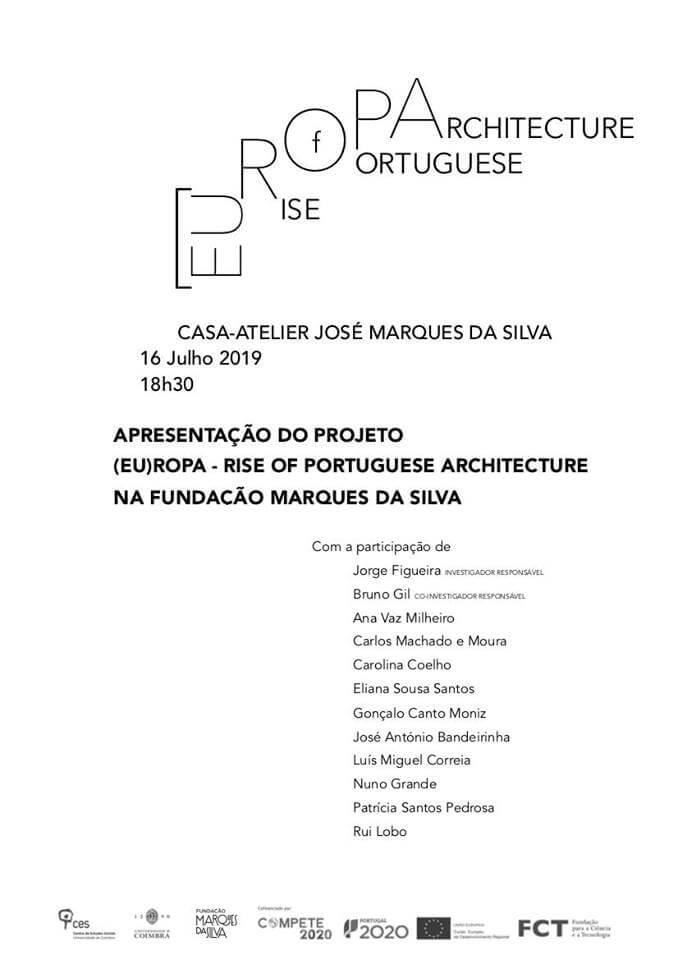 Projeto de investigação (EU)ROPA analisa processo de afirmação da arquitetura portuguesa