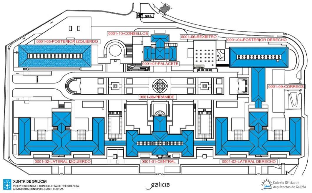 Reabilitação do complexo administrativo da Junta da Galiza . Espanha