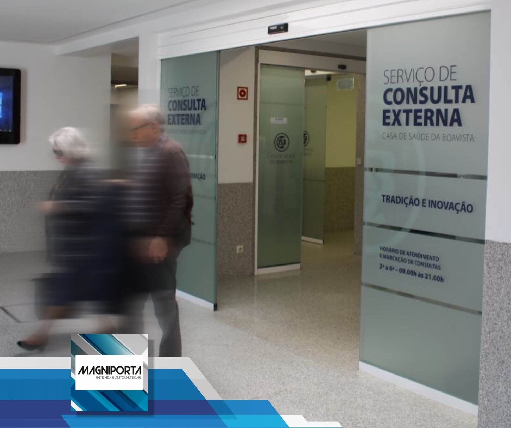 Portas Automaticas, clínicas de saúde e centros de saúde com portas automáticas