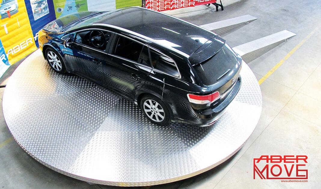 As Plataformas Rotativas ABER 360º são a solução perfeita para a manobrar veículos ou inverter a marcha em espaços reduzidos.