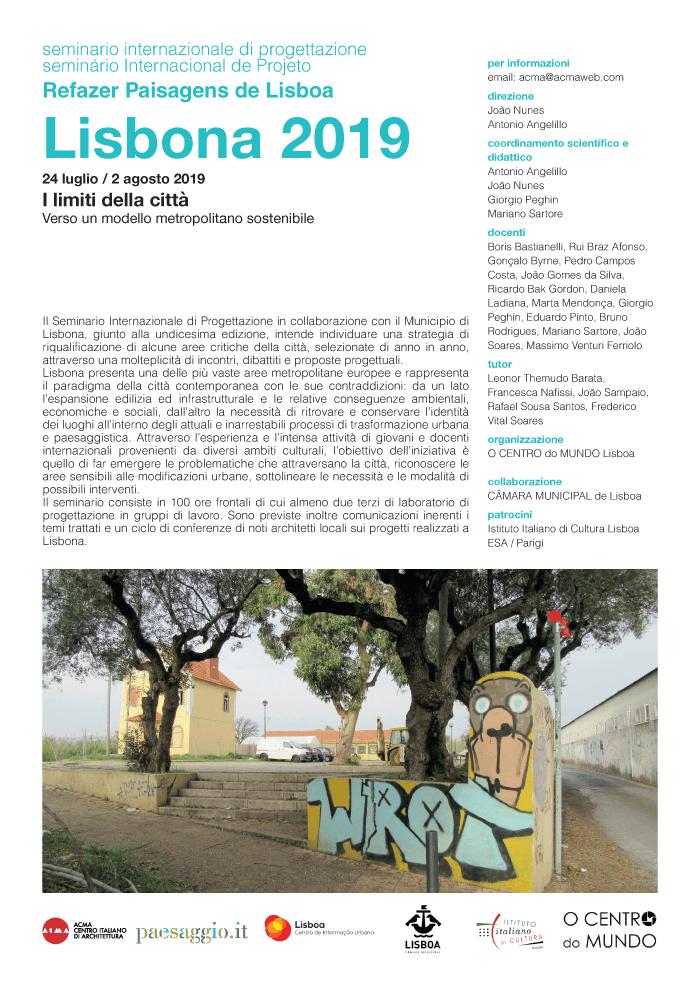Seminário Internacional de Projeto – Refazer Paisagens de Lisboa