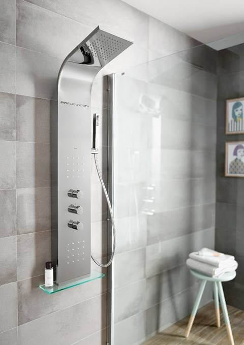 Colunas de duche com hidromassagem: soluções elegantes ao serviço do relaxamento