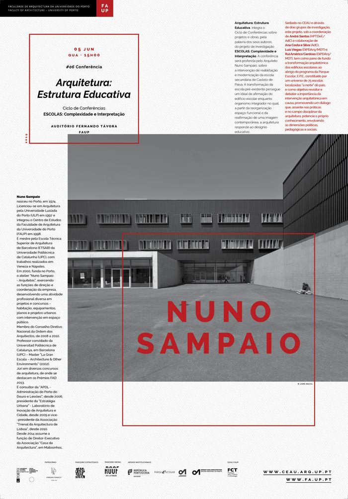 Conferência 'Arquitetura: estrutura educativa' por Nuno Sampaio
