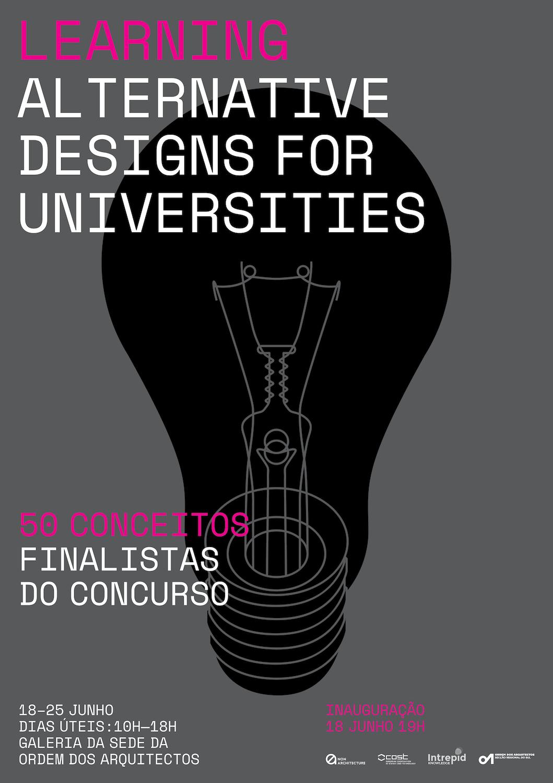 """Exposição """"Aprender – Design alternativo para universidades"""""""