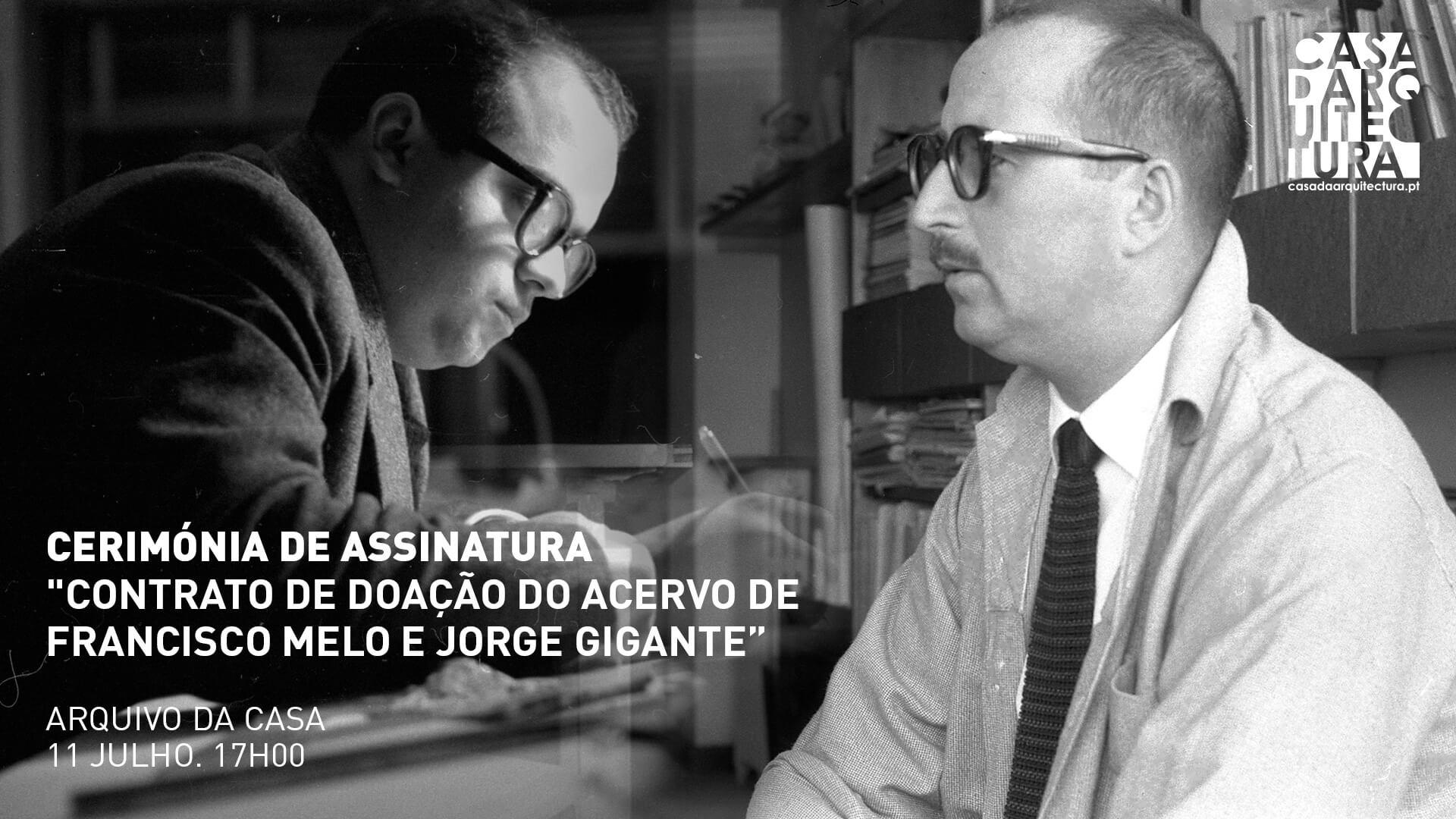 Acervo dos arquitetos Francisco Melo e Jorge Gigante vai ser doado à Casa da Arquitectura