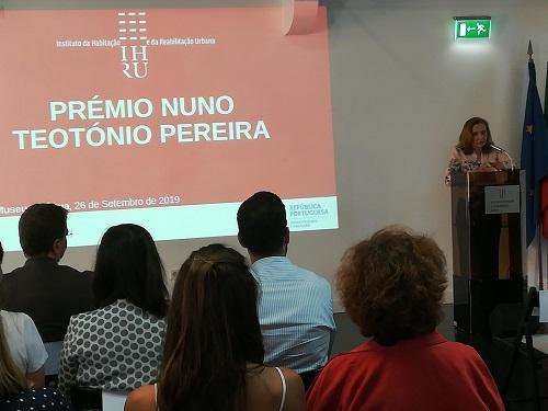 Cerimónia de entrega das distinções do Prémio Nuno Teotónio Pereira 2019