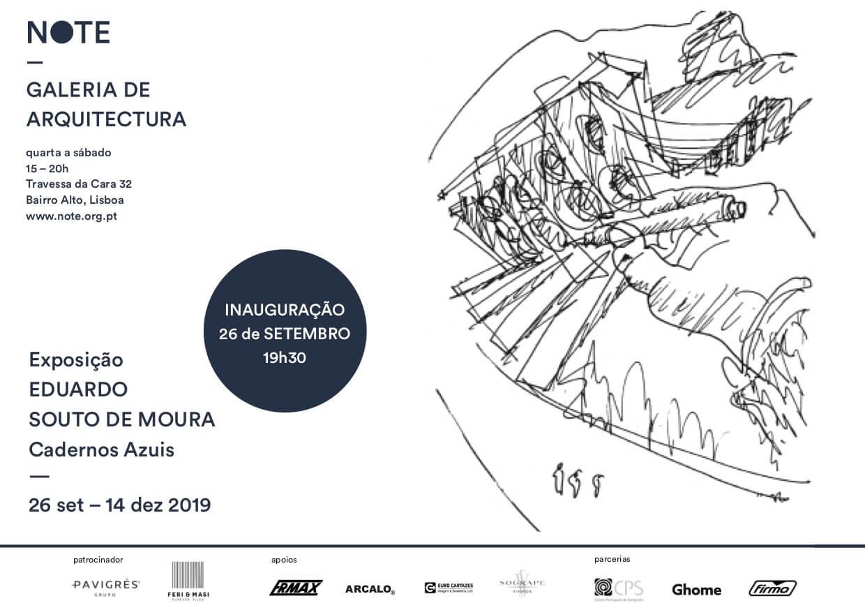 """Exposição """"Eduardo Souto de Moura – Cadernos Azuis"""""""