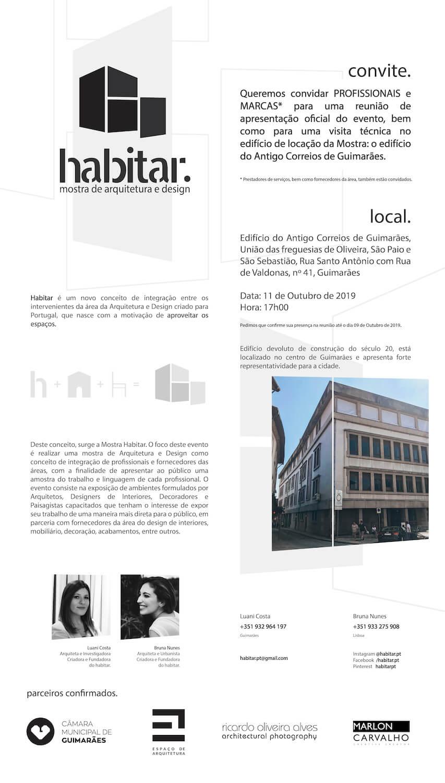 Habitar . Mostra de Arquitetura e Design