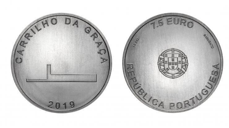 """Moeda de coleção """"Carrilho da Graça"""" integra a série Arquitetura Portuguesa da Casa da Moeda"""