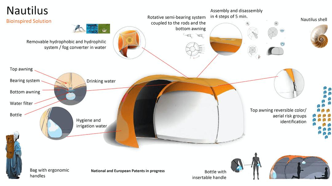 """É um abrigo móvel para deslocados, """"cria"""" água potável e ganhou um prémio"""