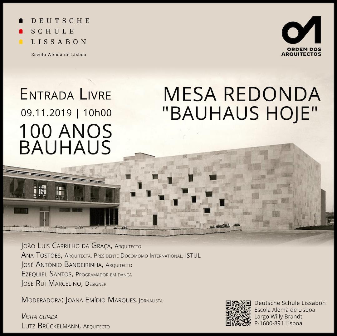 """Comemorações dos 100 anos Bauhaus – Visita Guiada e Mesa Redonda: """"Bauhaus Hoje"""""""
