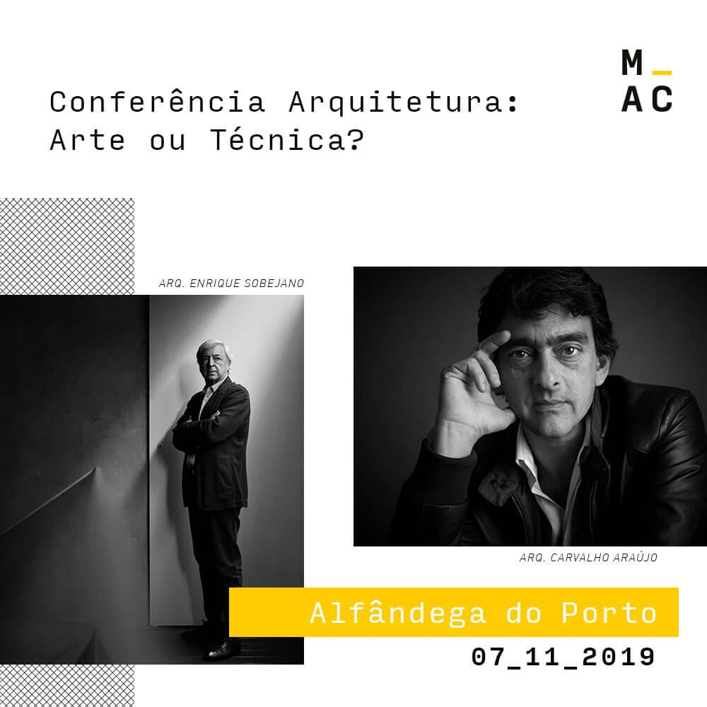 1ª edição da Margres Architecture Conference com os arquitetos Enrique Sobejano e Carvalho Araújo