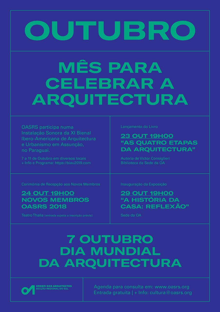 Um mês para celebrar o Dia Mundial da Arquitectura