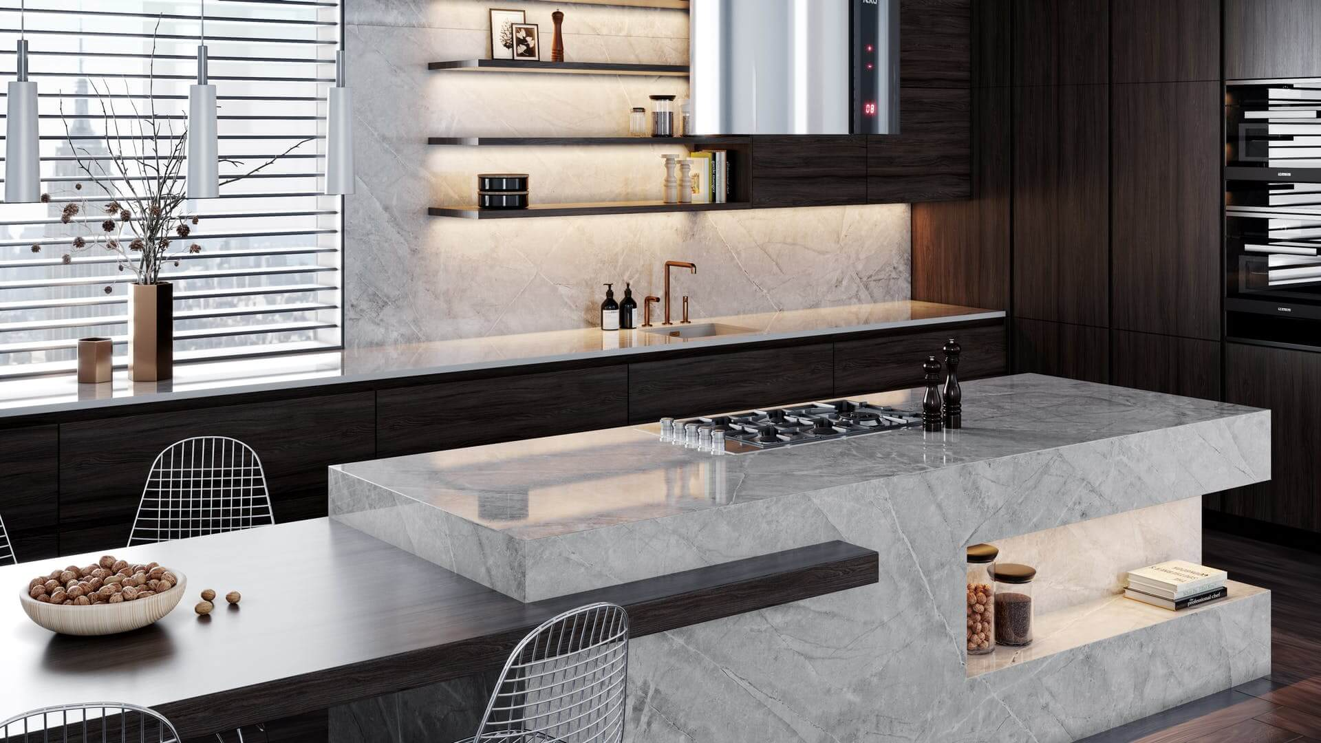 Dekton Sogne distinguido nos Architectural Digest Great Kitchen Design Awards