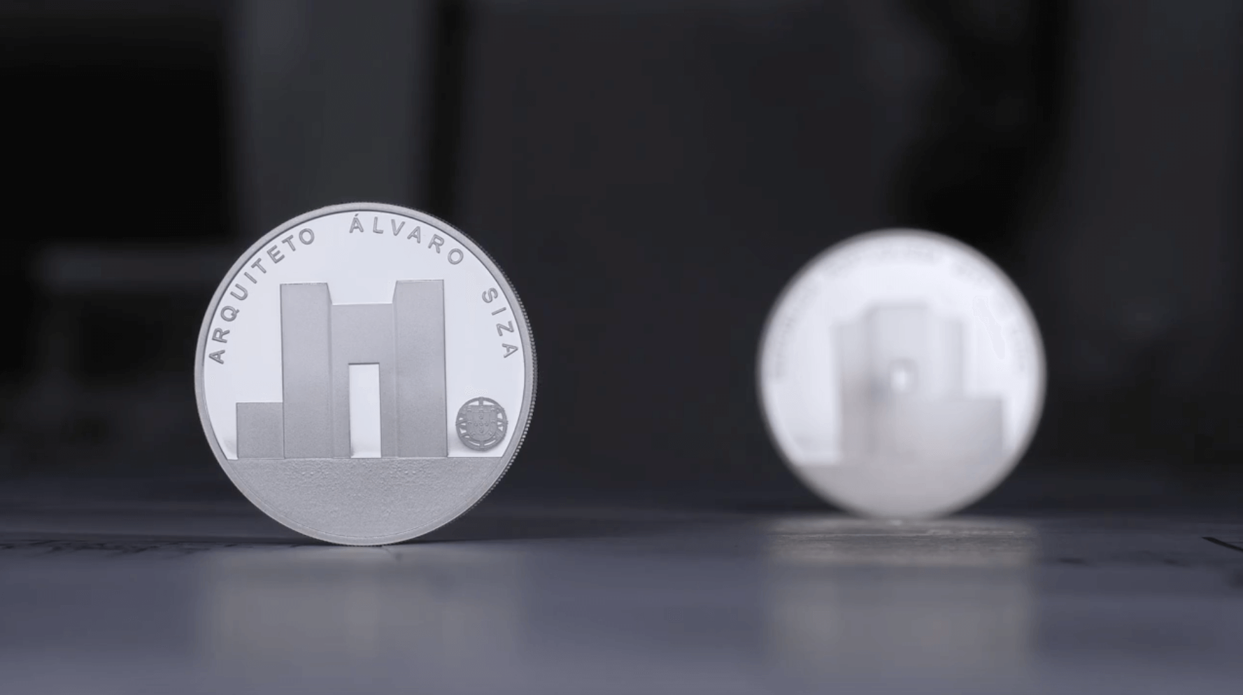 """Apresentação da série moedas de coleção """"Arquitetura Portuguesa"""": Siza, Souto de Moura e Carrilho da Graça"""