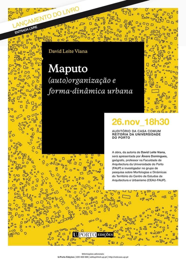"""Lançamento do livro """"Maputo. (auto)organização e forma-dinâmica urbana"""""""