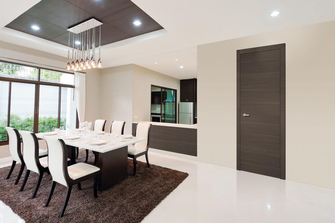Porta de Interior Dekordor® 3D Dark Cedar