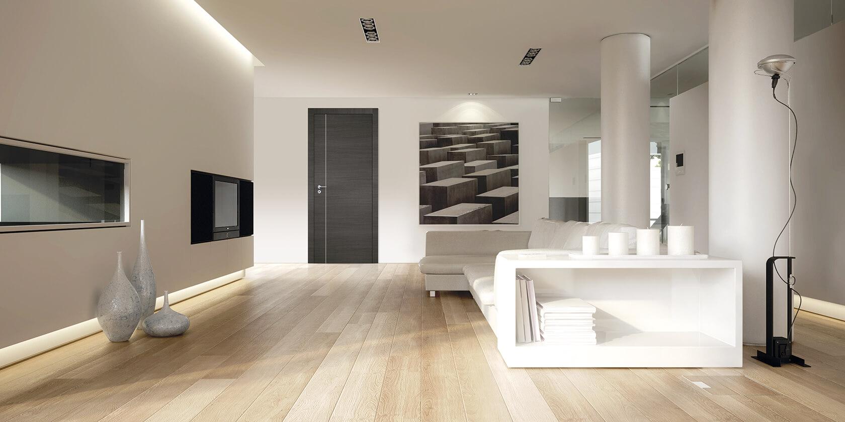 Porta de interior Dekordor 3D Cinza IG1V-15