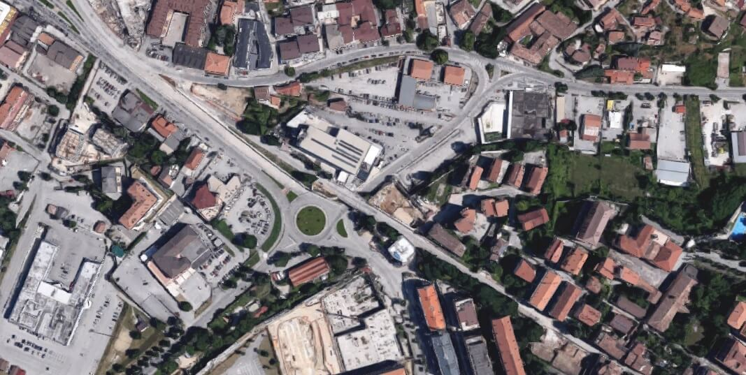 Requalificação urbana em Aquila . Itália