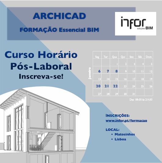 Novas datas | Formação ARCHICAD Essencial BIM