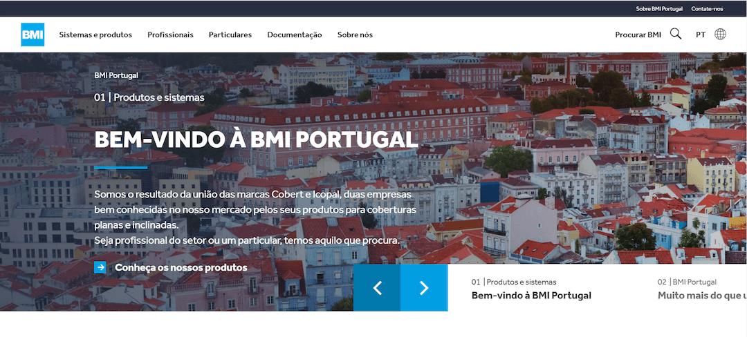 Novo site da BMI Portugal reúne mais de 3000 produtos e partilha know-how de coberturas