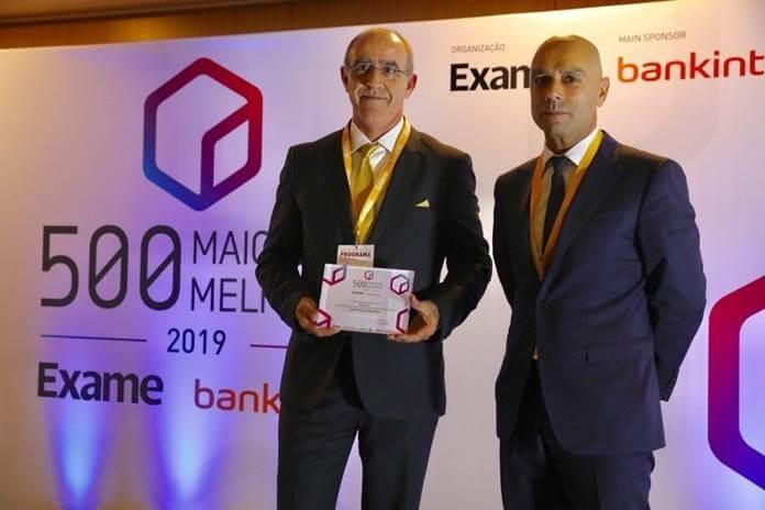 """Roca distinguida como melhor empresa do setor da construção e do imobiliário no Ranking """"EXAME 500 Maiores & Melhores Empresas de Portugal 2019"""""""