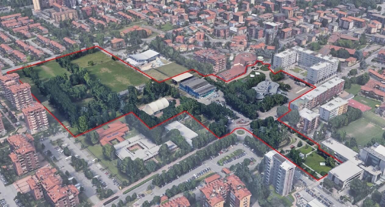 Escola primária e espaço público envolvente em Segrate
