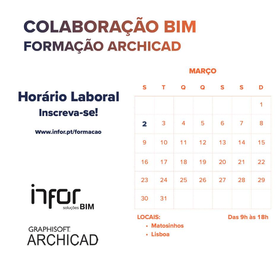INFOR | FORMAÇÃO FEVEREIRO | ARCHICAD AVANÇADO