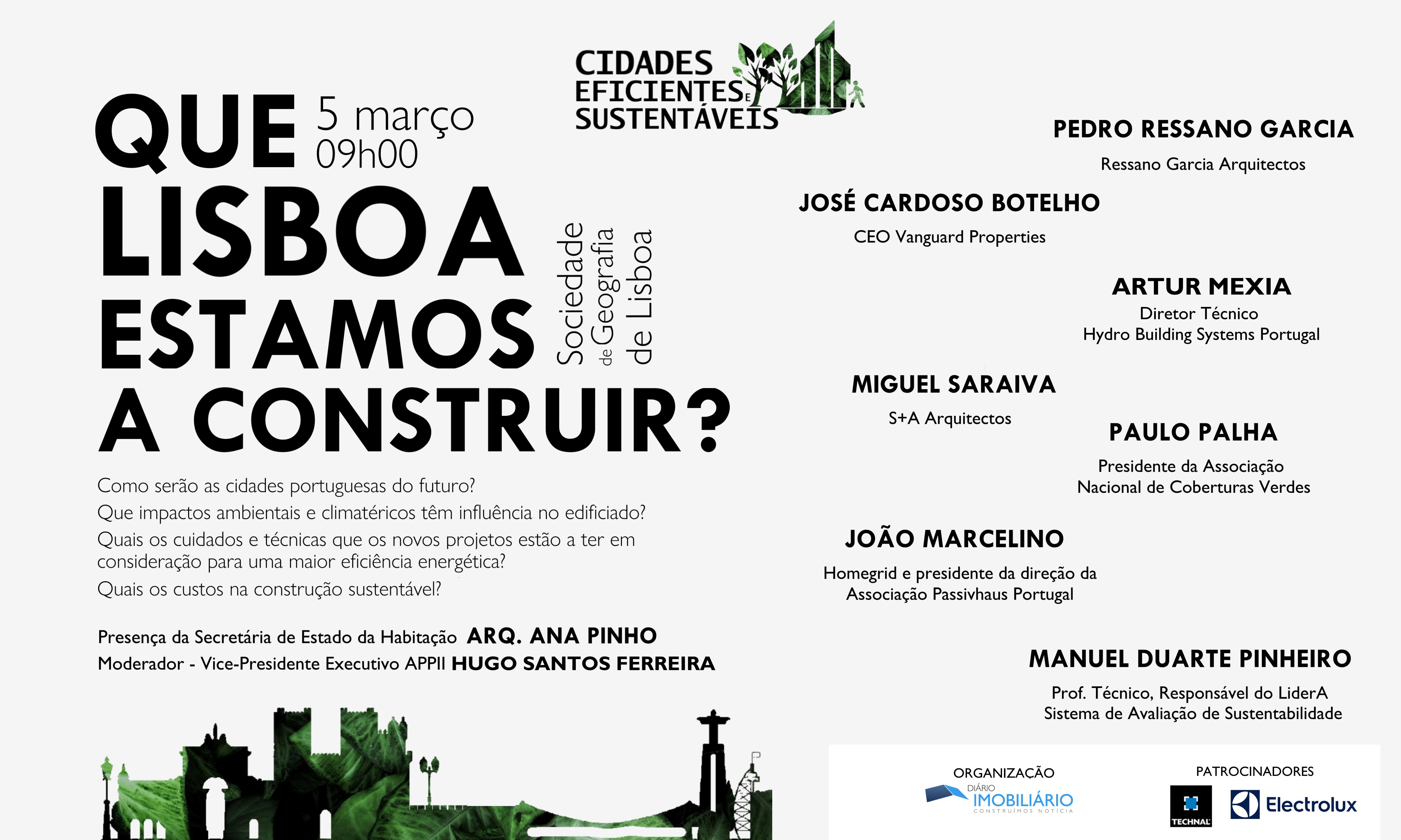 """""""Que Lisboa estamos a construir?"""" É o mote da 1ª Edição da Conferência """"As Cidades do Futuro"""""""