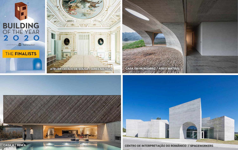 Quatro projetos portugueses finalistas na corrida ao Building of the Year 2020