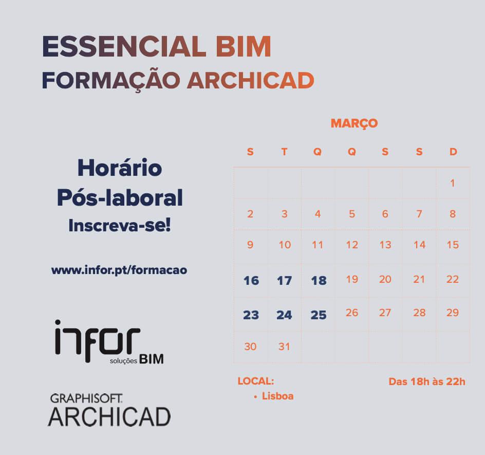 Formação ARCHICAD Essencial BIM | Pós-laboral | Lisboa