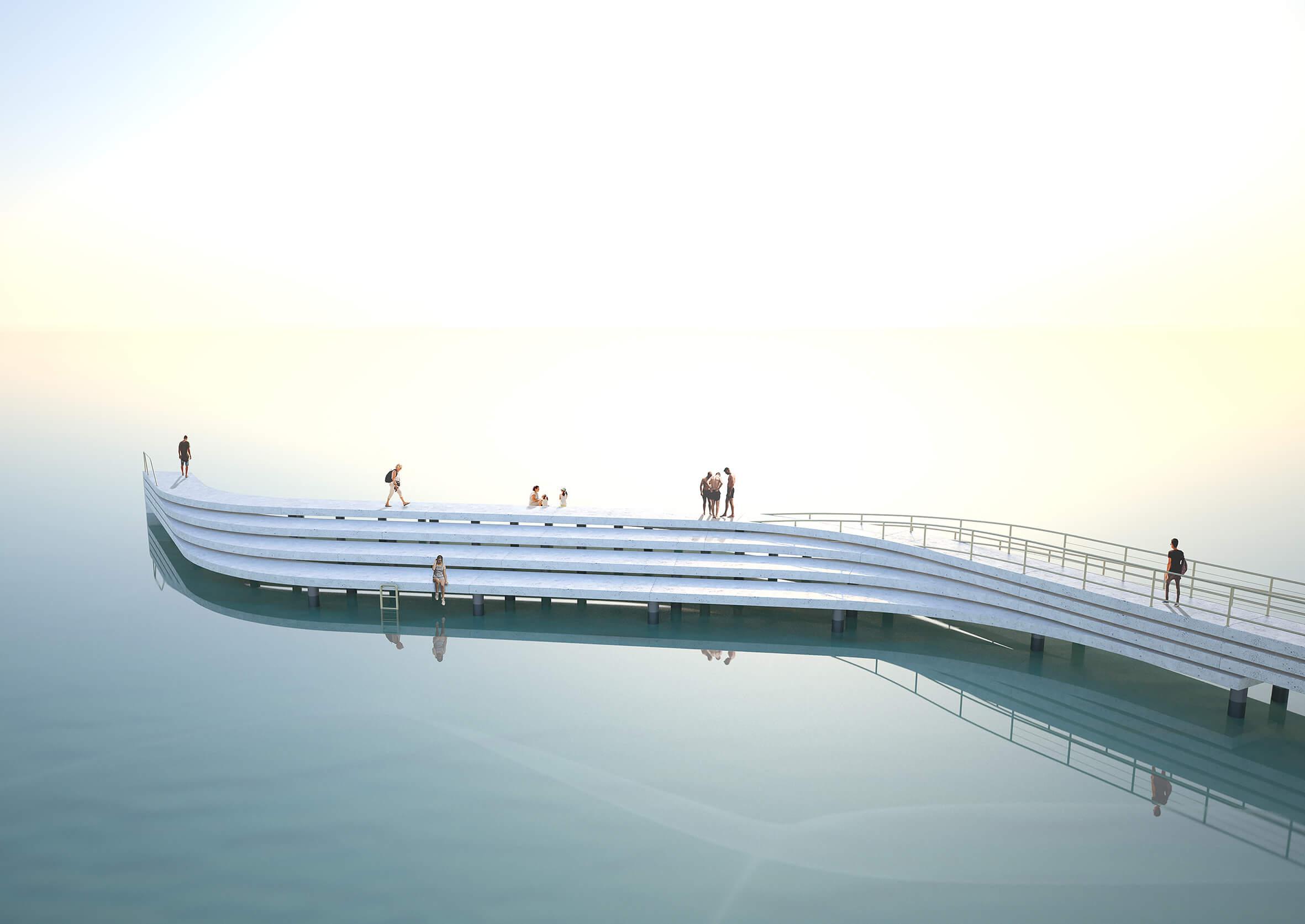 """JJs Arquitectura vence concurso internacional em Melbourne com """"The Wave"""""""