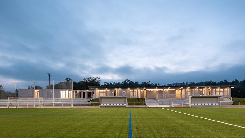 Campo de fútbol de Xeve . Pontevedra