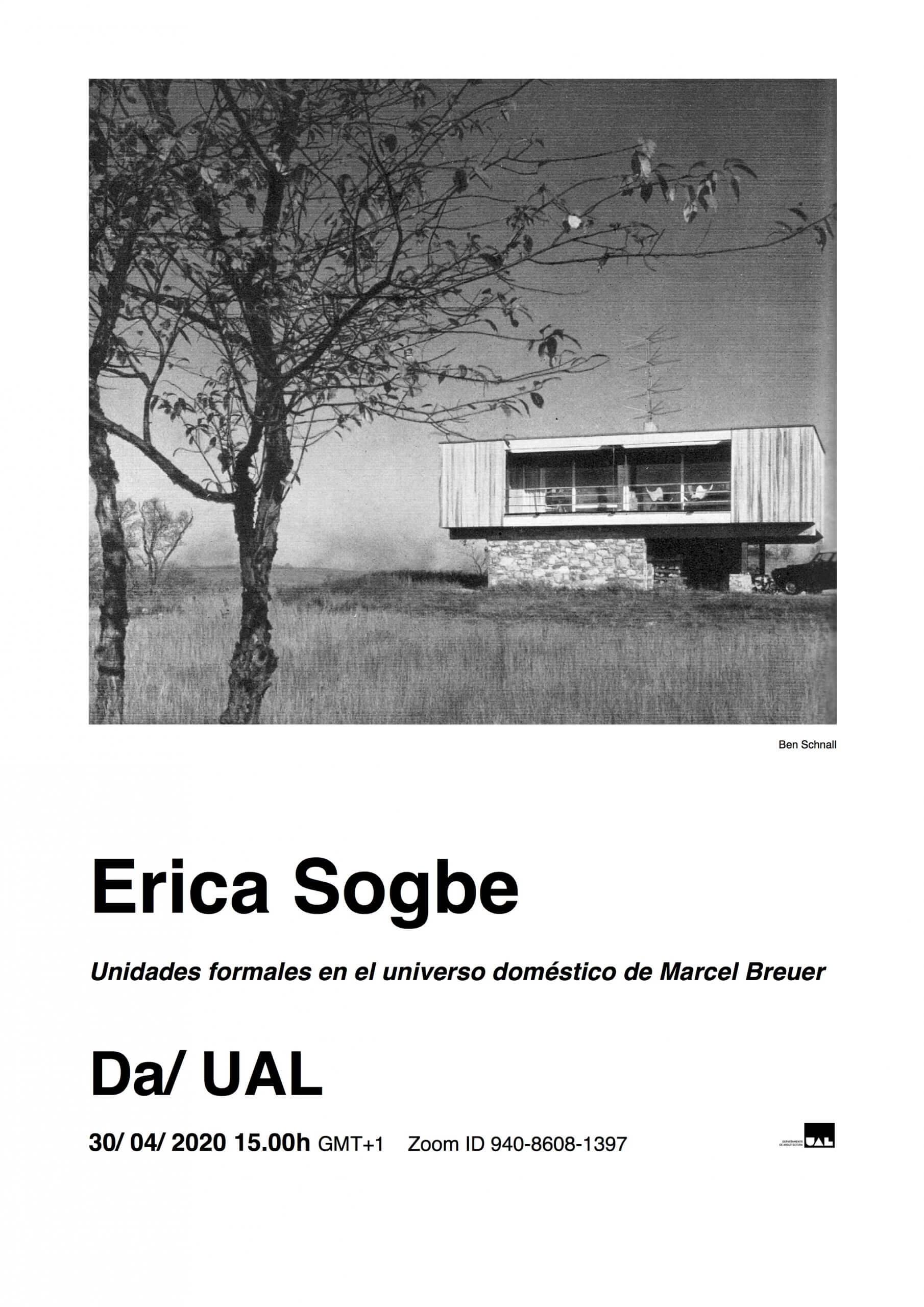 Conferência de Erica Sogbe - Unidades formales en el universo doméstico de Marcel Breuer