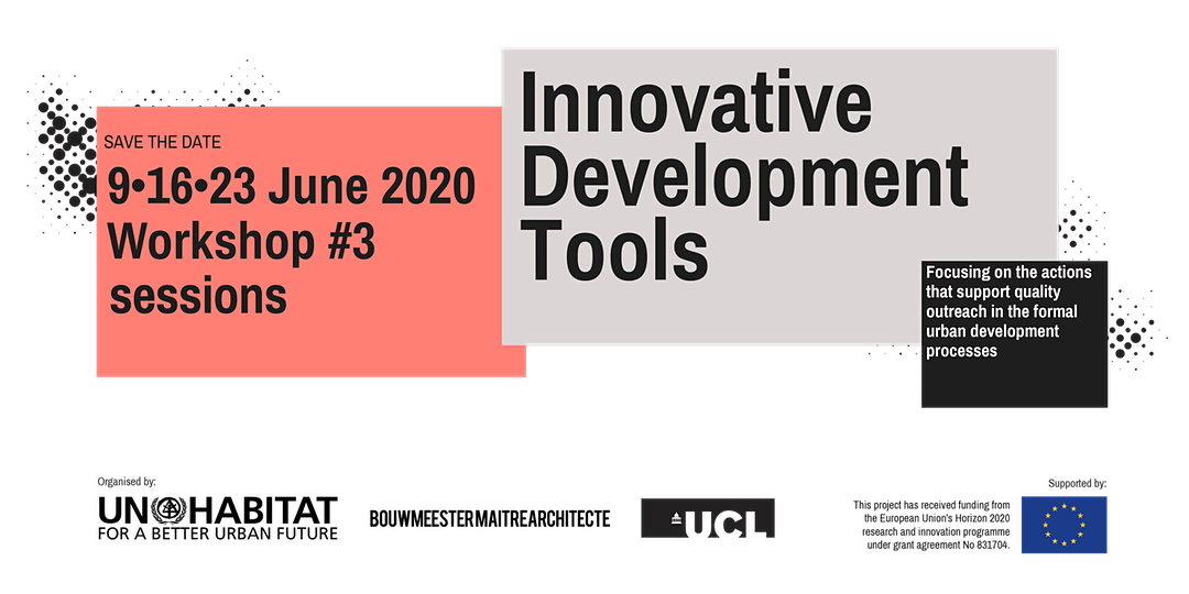 URBAN MAESTRO Workshop #3: Innovative Development Tools