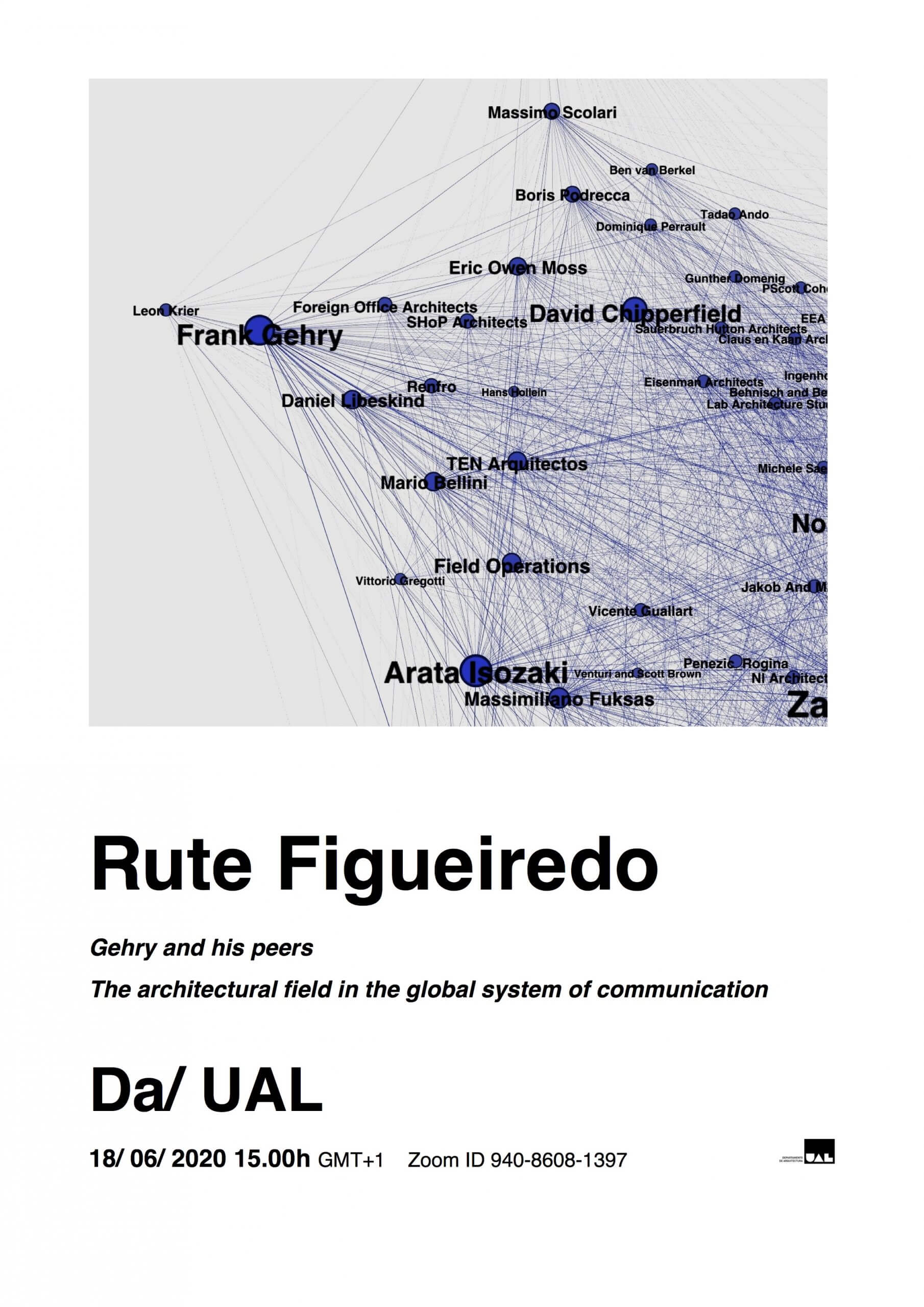Conferência - Rute Figueiredo - Gehry and his peers. The architectural field in the global system of communication